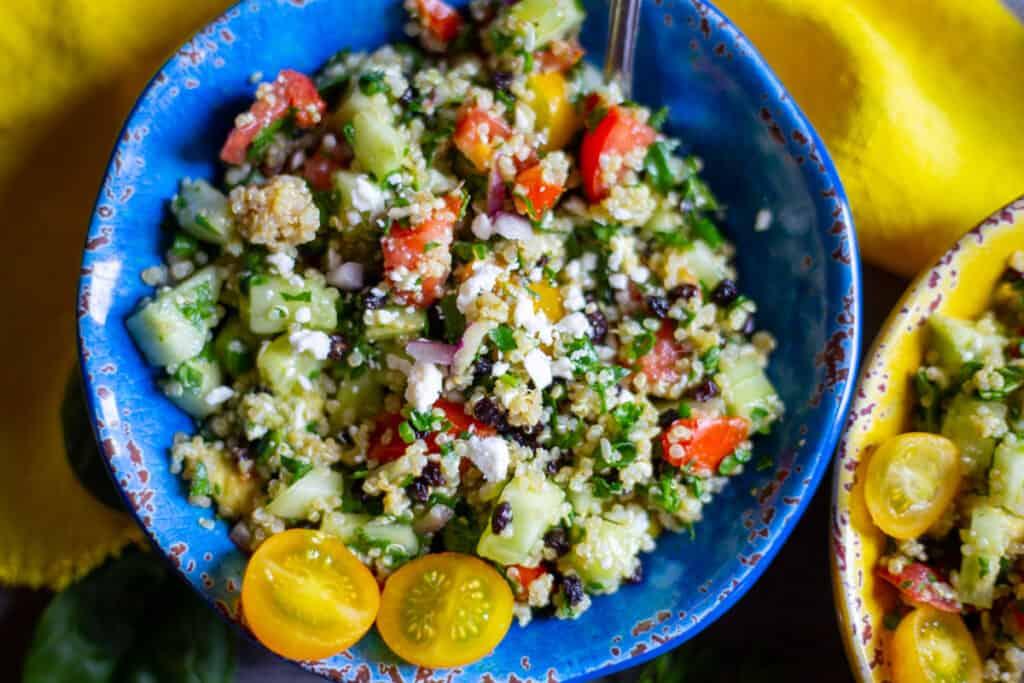 quinoa spinach avocado salad