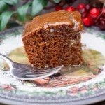 Featured Image of Gingerbread Squares on a holiday plate.