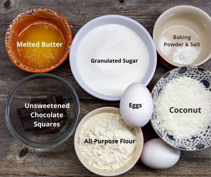 Ingredients needed for this recipe with text overlay.