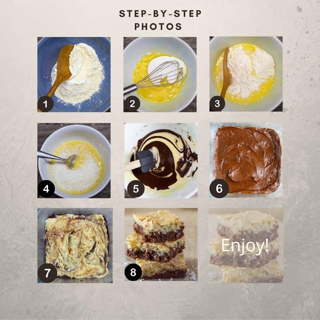 Step-by-step process photos showing how to. make the recipe.