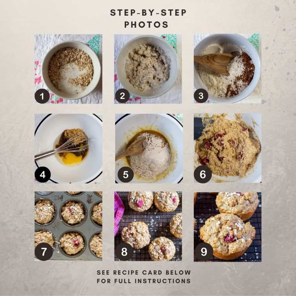 Step-by-step numbered photos for recipe.