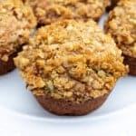 Close up image of Bakery Style Banana Nut Muffins.