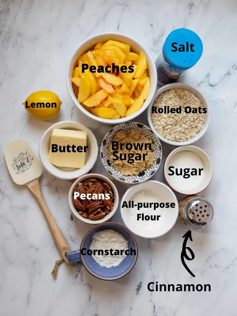 Ingredients in small bowls with text overlay.